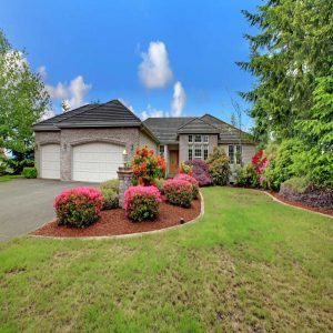 Beautiful curb appeal and landscaping on house for sale