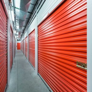 Inside of a self storage facility for people wanting to sell their house