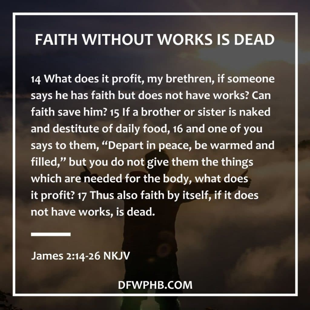Faith without works is dead scripture for homeowners wanting to sell their house fast through prayer