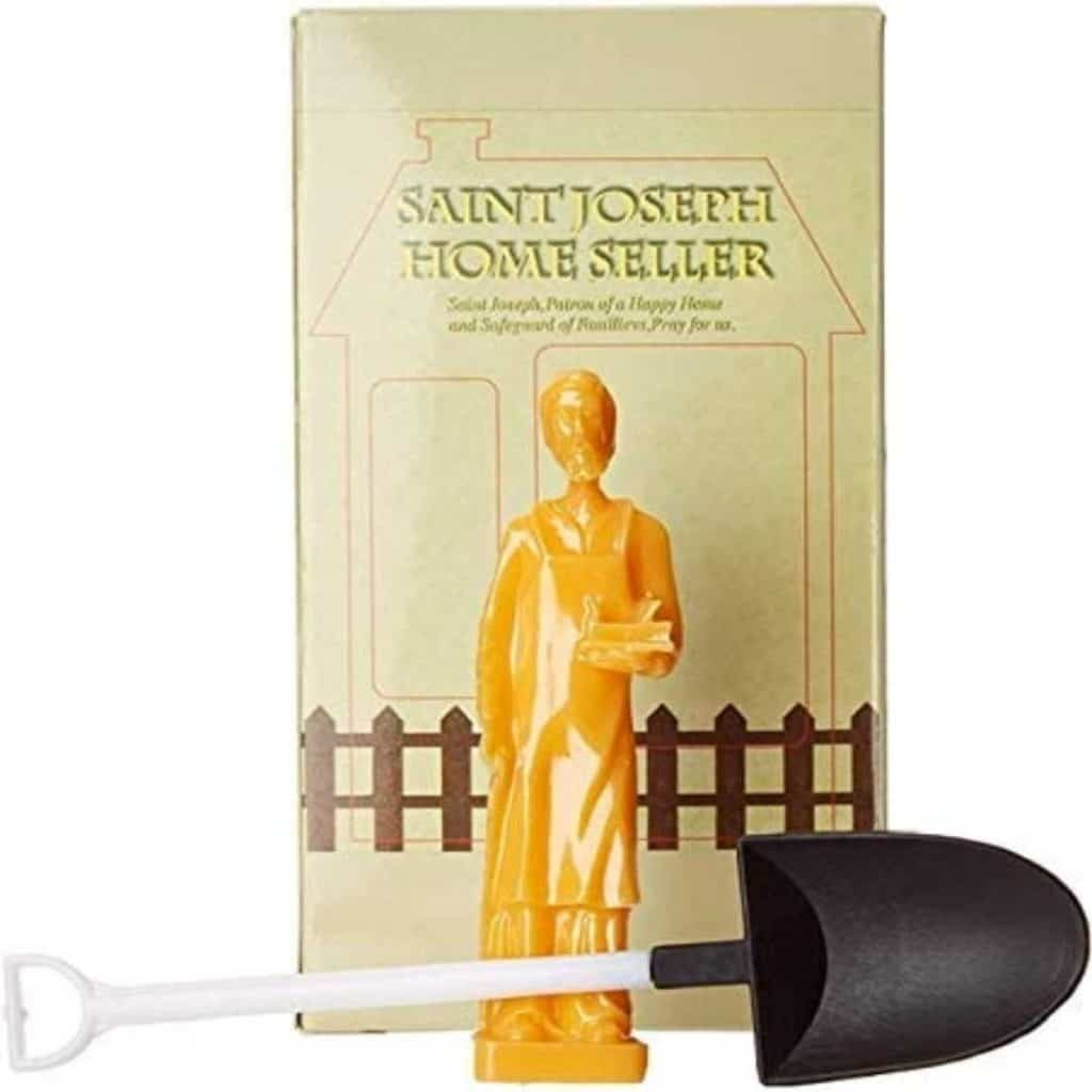 St. Joseph statue, shovel, and prayer book to sell house fast