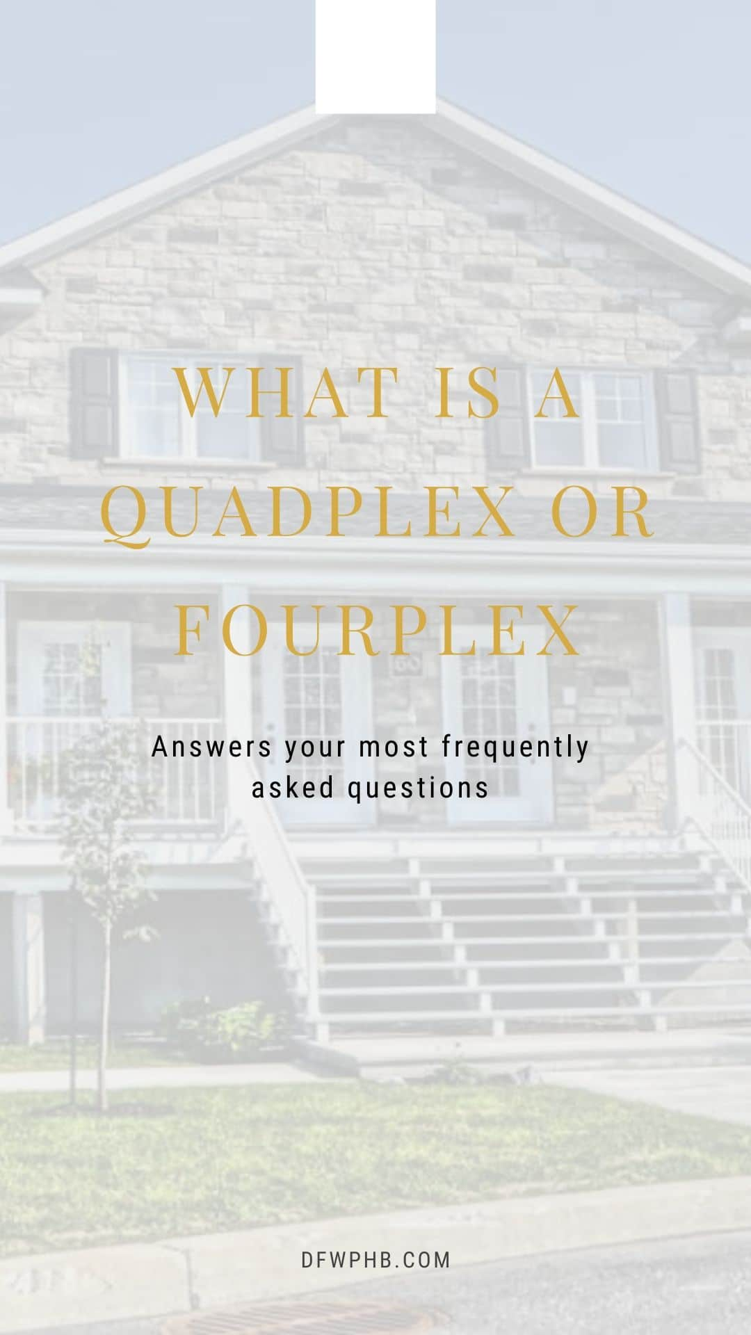 Image of a guide that discusses what is a quadplex or fourplex
