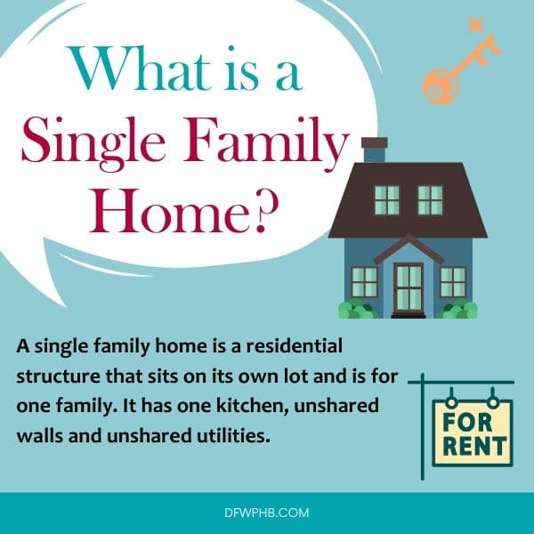 An image answering what is a single family home