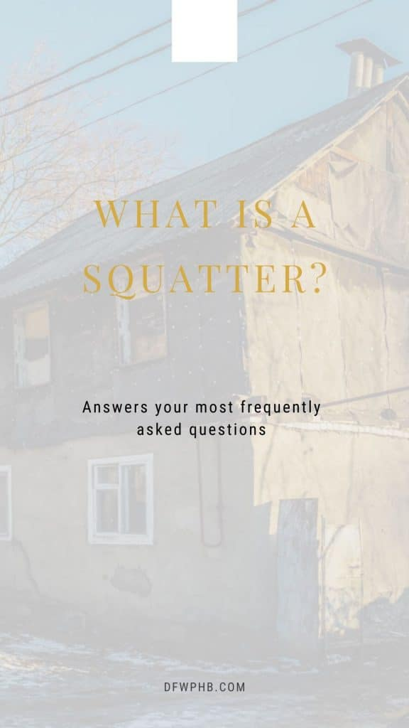 An image to a guide that describes squatters and squatters rights in Texas