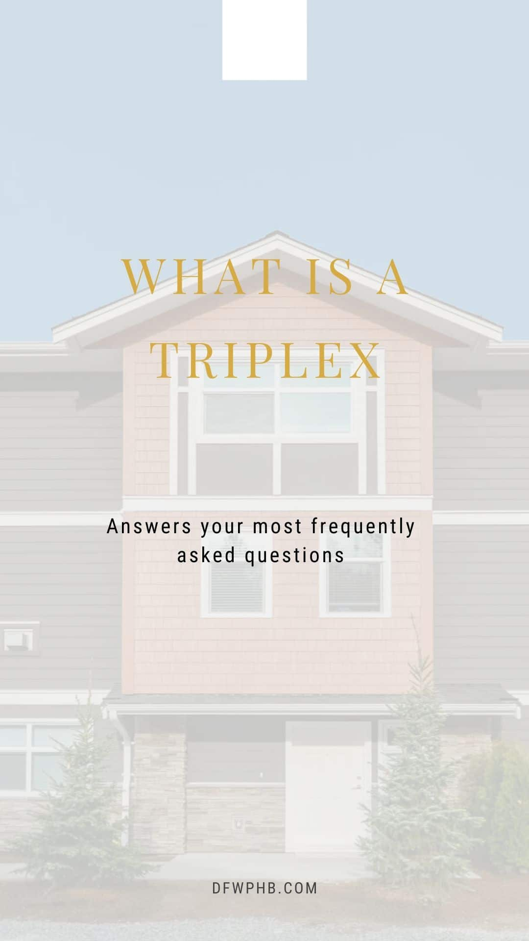 Image of a guide that discusses what is a triplex